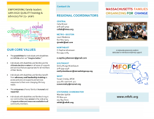 Screenshot: Massachusetts Families Organizing for Change brochure