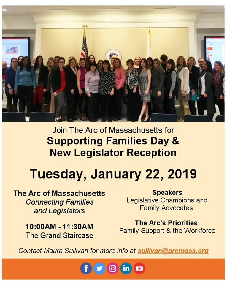 Flyer: Supporting Families Day and New Legislator Reception