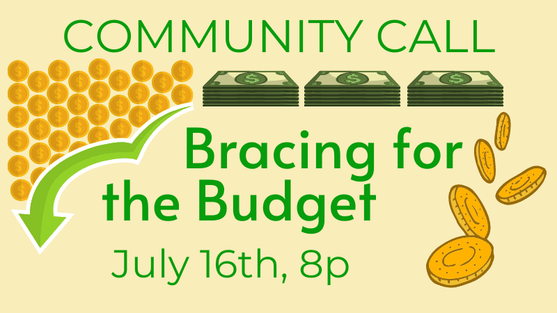 Community Call Bracing for the Budget 07-16-2020