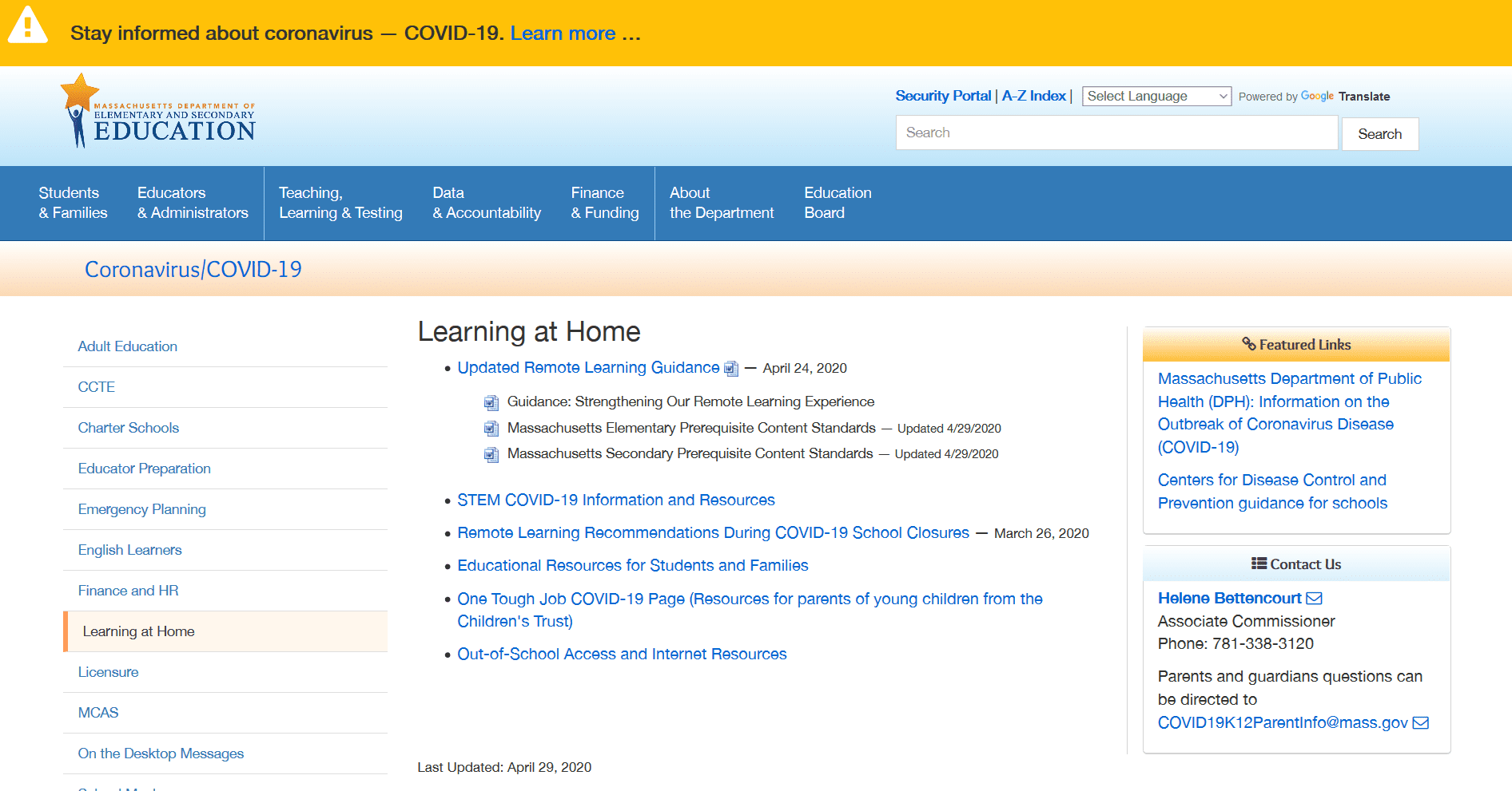 Coronavirus-COVID-19-Learning-at-Home-Massachusetts-Department-of-Elementary-and-Secondary-Education