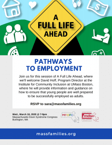 A Full Life Ahead Pathways to Employment MDSC Burlington 3-18-2020