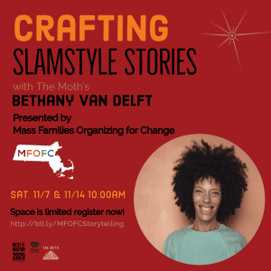 Crafting Slamstyle Stories November 7 and 14, 2020