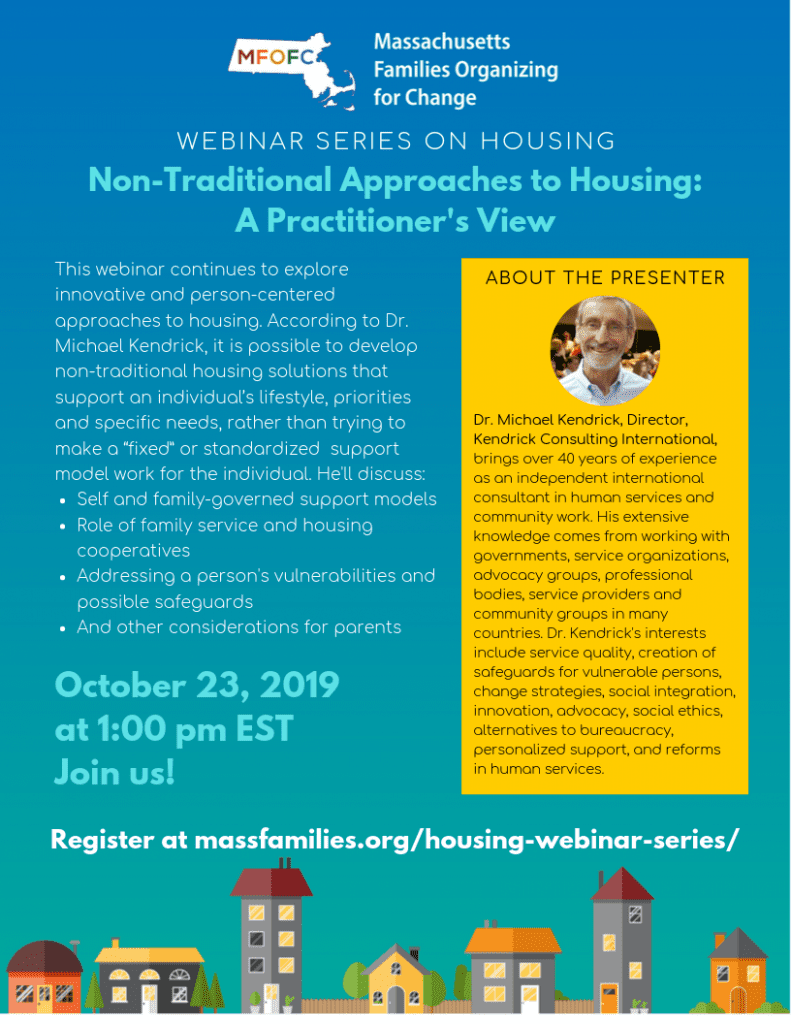MFOFC Webinar Series on Housing Non-Traditional Approaches to Housing: Practitioner's View October 23 2019