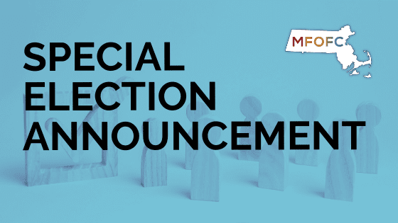 SPECIAL ELECTION ANNOUNCEMENT
