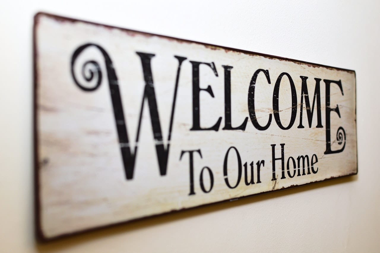 Photo: wooden sign with words Welcome to our Home